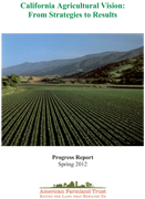 California Farm Fields on cover of From Strategies to Results report
