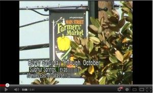 Sulphur Springs, Texas Farmers Market video