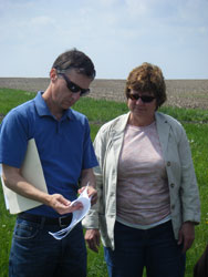 Lowell Gentry (University of Illinois at Urbana-Champaign) and I at a site visit in May.