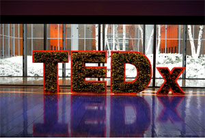 The &quot;edible&quot; TEDx logo.