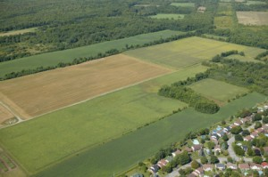 Development encroaching on farmland